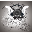 Music Poster with Audio Speaker5 vector image