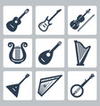 musical instruments strings vector image