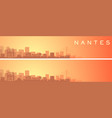 nantes beautiful skyline scenery banner vector image vector image