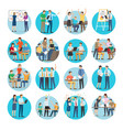 office teamworking process collection on white vector image vector image