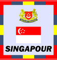 official ensigns flag and coat of arm of singapour vector image vector image