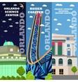 Orlando tourist landmark banners set vector image vector image