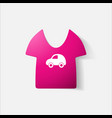 paper clipped sticker children t-shirt vector image vector image