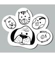 paw shape vector image