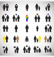 people gender race orientation age set on white vector image