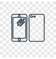 phones concept linear icon isolated on vector image