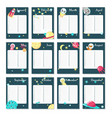 planner calendar template with space vector image