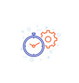 productivity linear icon with stopwatch cogwheel vector image vector image