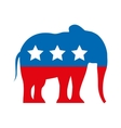 republican party emblem isolated icon vector image
