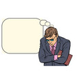 sad businessman failures stress at work vector image vector image