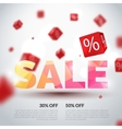 Sale poster Design template vector image vector image