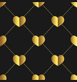 seamless golden hearts shapevalentines day vector image vector image
