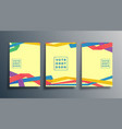 set abstract design cover for background flyer vector image vector image