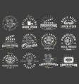 set cinema vintage emblems vector image vector image