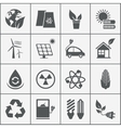 set eco energy icons vector image vector image