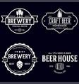 set of vintage monochrome badge logo templates vector image
