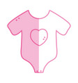 silhouette baby clothes that used in the body vector image vector image