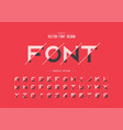 sliced font and alphabet bold typeface letter vector image vector image