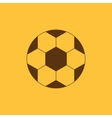 The football icon Soccer symbol Flat vector image vector image