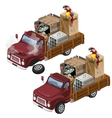 Truck for transportation homeless animals vector image