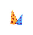 two cartoon birthday christmas party hats vector image