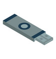 usb flash memory icon isometric style vector image vector image