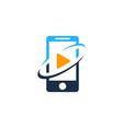 video mobile logo icon design vector image