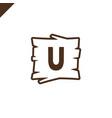 wooden alphabet or font blocks with letter u vector image vector image
