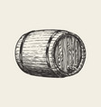 wooden oak barrel wine whisky pub sketch hand vector image vector image
