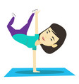young woman breakdancing vector image vector image