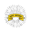 Happy birthday flat design poster vector image