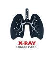 x-ray diagnostics concept vector image
