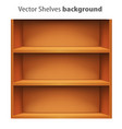3d book shelve template vector image