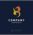 8 company logo design vector image vector image