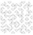 abstract lines pattern vector image vector image