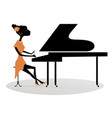 african woman pianist vector image