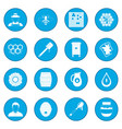 apiary icon blue vector image vector image