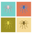 assembly flat octopus vector image vector image