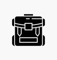bag camping zipper hiking luggage glyph icon vector image