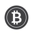 black bitcoin icon vector image vector image