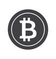 black bitcoin icon vector image vector image