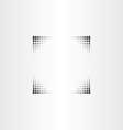 black halftone border frame vector image vector image