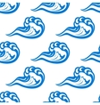Blue waves seamless pattern on white vector image vector image