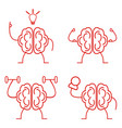 brain power set vector image vector image