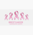 breast cancer concept banner realistic style vector image vector image