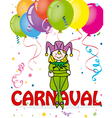 Carnival card vector image vector image