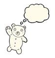 cartoon cute polar teddy bear with thought bubble vector image vector image