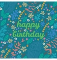 Cartoon floral card vector image vector image