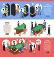 casino isometric horizontal banners vector image vector image