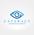 cataract awareness month vector image vector image